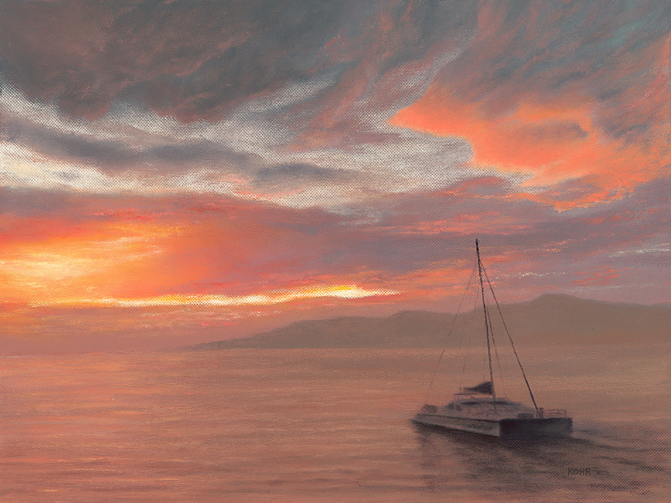 Into the Maui Sunset /  Oil on Canvas  /  12x16