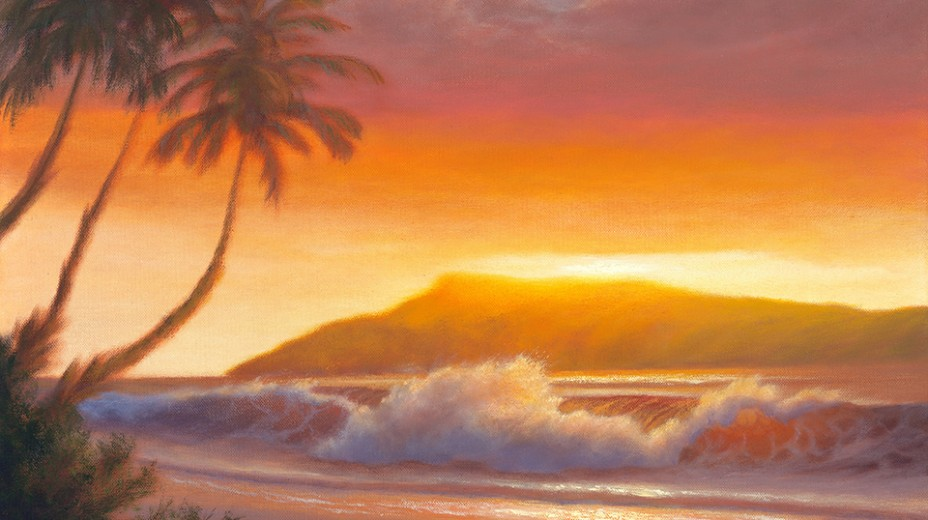 Evening in Ka'anapali  /  Oil on Canvas  /  18x24