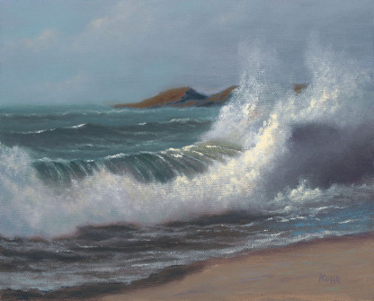 Coming to Shore, 8x10 oil on canvas