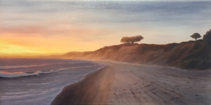 La Selva Beach, 15x30 oil on canvas