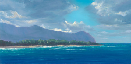 Tranquil Paradise, 15x30 oil on panel