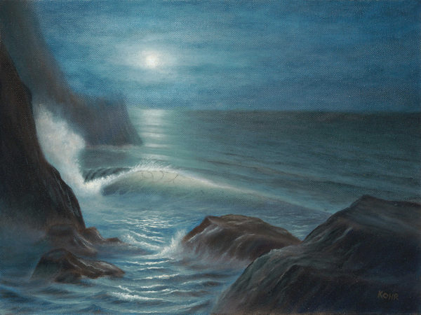Midnight Blue seascape oil painting