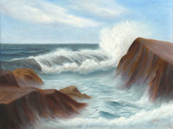 Power & Beauty seascape oil painting