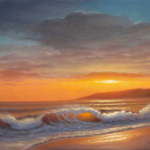 16x20 oil on canvas seascape painting of Sugar Beach, Kihei Maui by Steve Kohr Fine Art