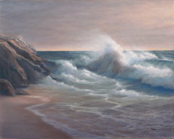 16x20 oil on canvas seascape painting of Bodega Bay by Steve Kohr Fine Art