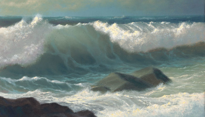 Mouth of the Wave, 9x12 oil on panel