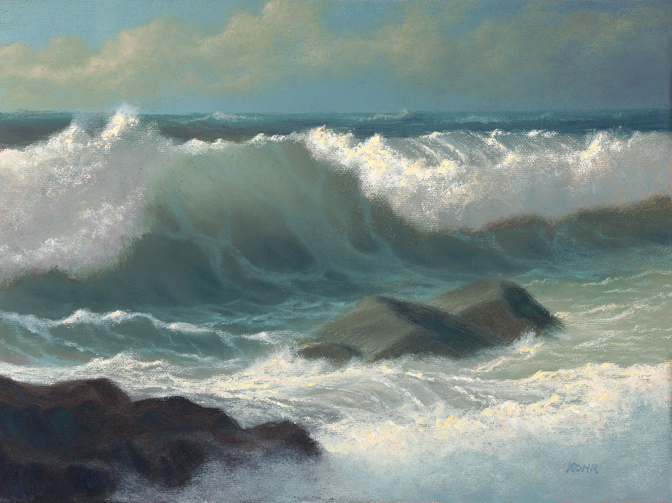 Mouth of the Wave  /  Oil on Panel /  9x12