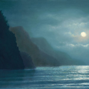Midnight Moonlight, 9x12 oil on panel