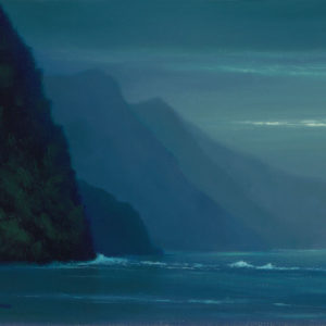 Peaceful Na'Pali Coast, 8x10 oil on panel