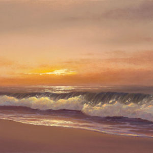 Peaceful Shoreline of Polihale, 12x24 oil on canvas