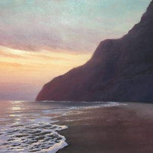 Sunset at Polihale, 18x24 oil on canvas