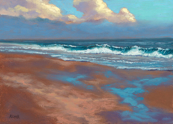 Evening Tide, 5x7 oil on panel