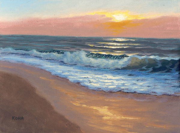 Sundown, 6x8 oil on panel
