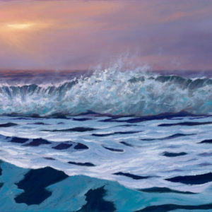 Twilight Approaches, 15x30 oil on canvas