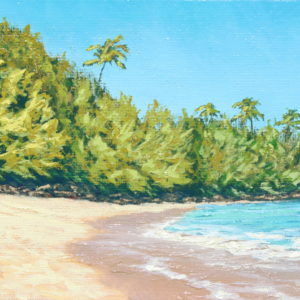 Mid-day at Ke'e, 5x7 oil on panel