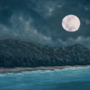 Moonscape, 6x12 oil on canvas